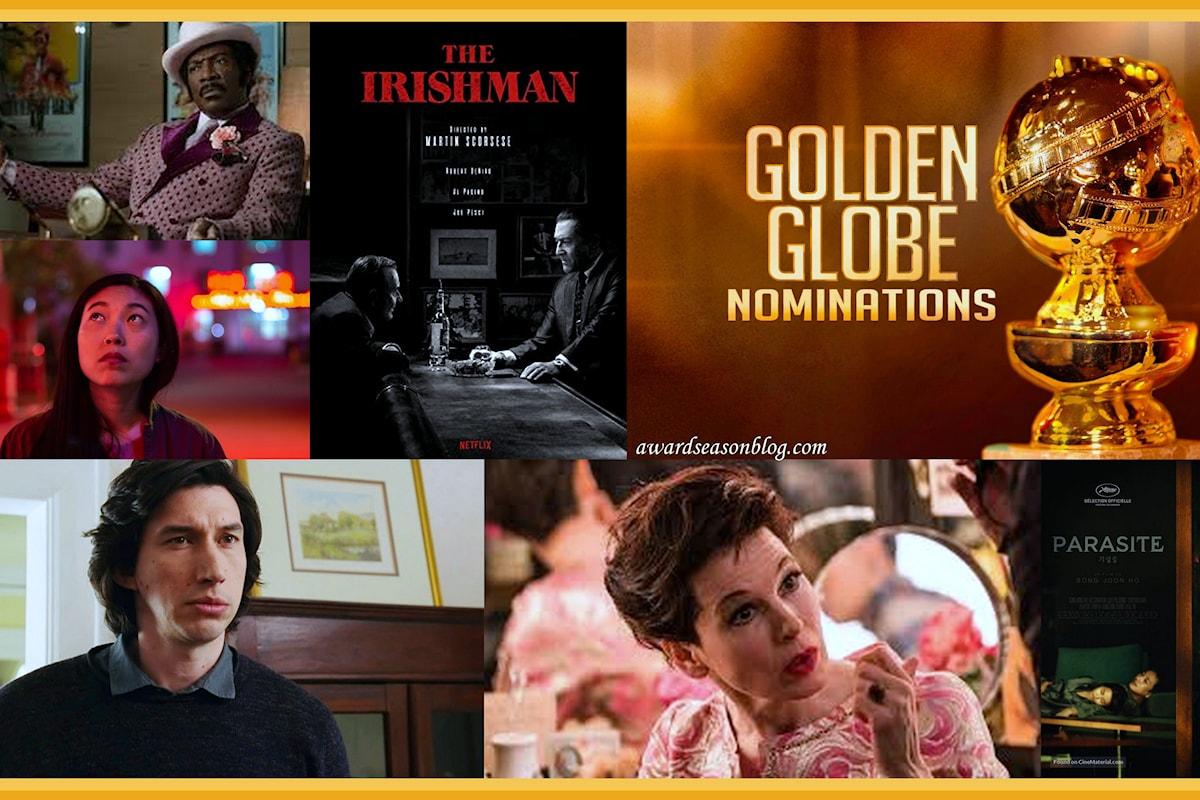 Golden Globe 2020: Marriage Story guida le nominations. Fuori dai giochi l'Italia