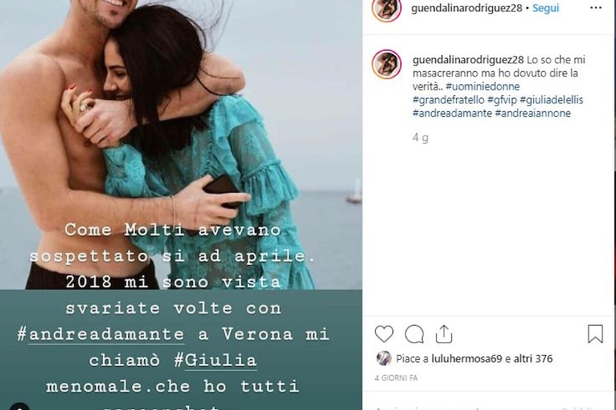 Andrea Damante ex tronista di Uomini e donne ha tradito Giulia con la trans Guendalina? Rivelazioni shock