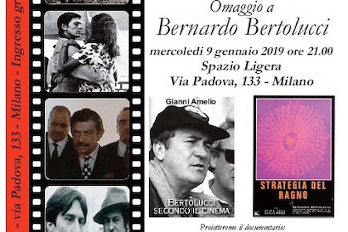 Milano, 9 gennaio 2019: omaggio a Bernardo Bertolucci