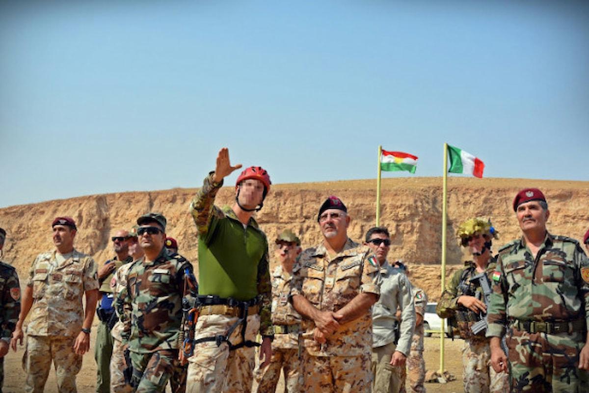 Iraq, Alpini costruiscono un'area addestrativa nei pressi della diga di Mosul per i militari curdo-iracheni