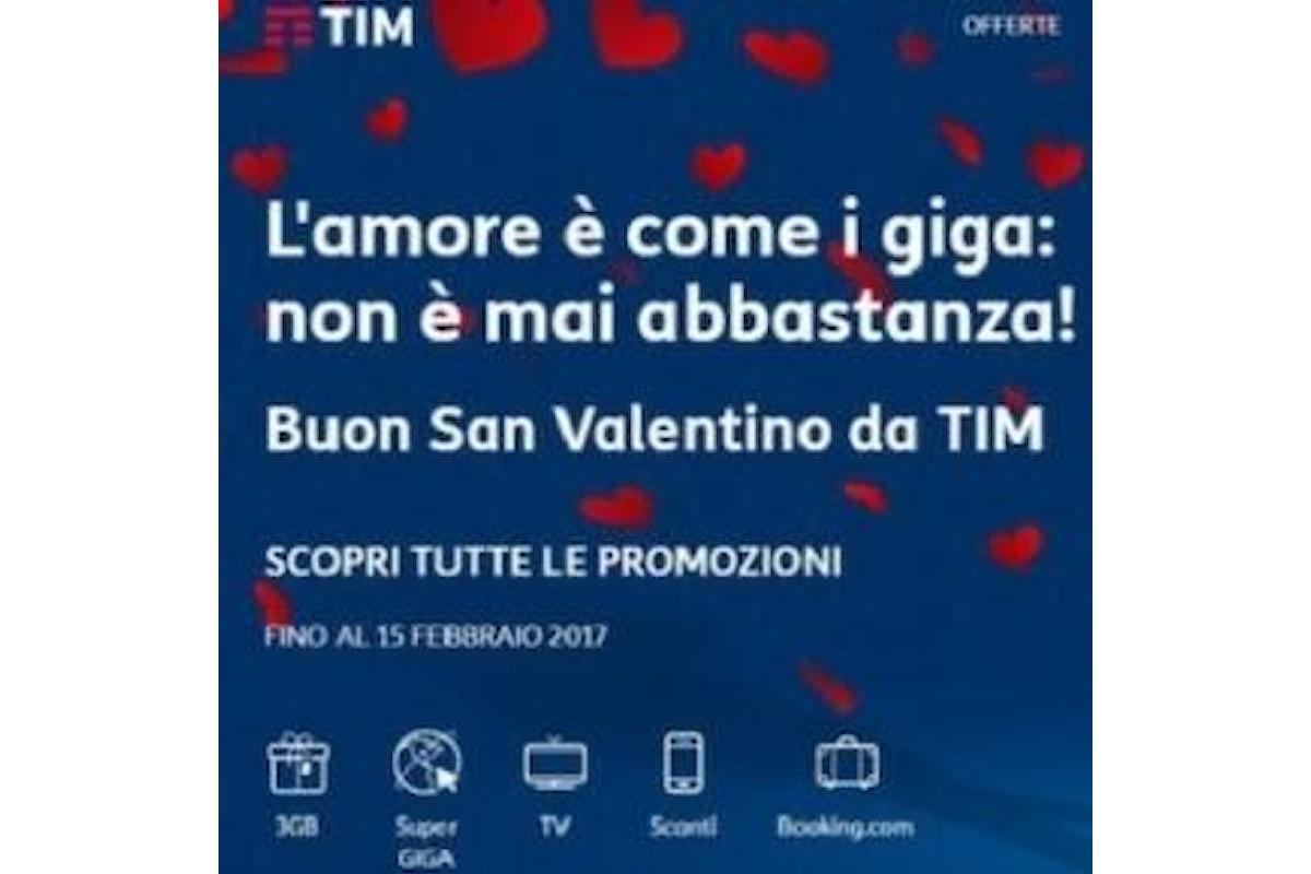 San Valentino, Giga Gratis con TIM e WIND