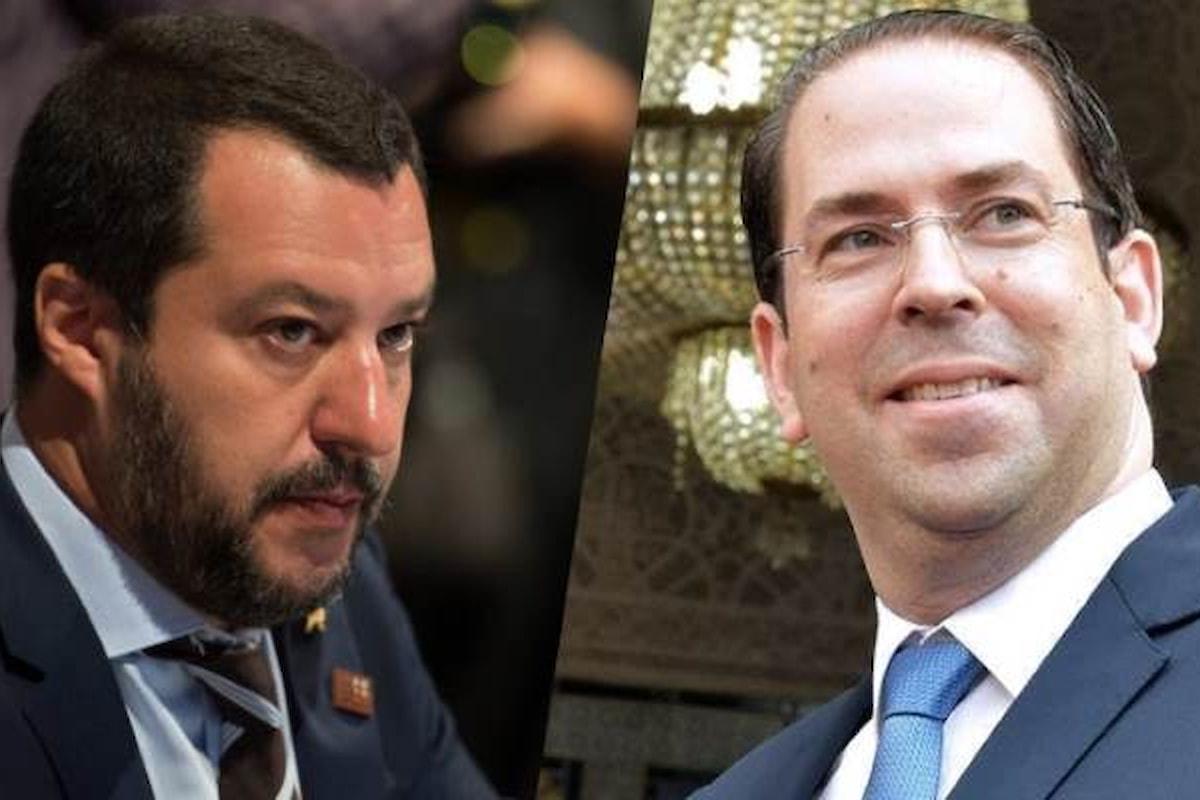 Matteo Salvini va in Tunisia ma il premier Youssef Chahed si rifiuta di riceverlo