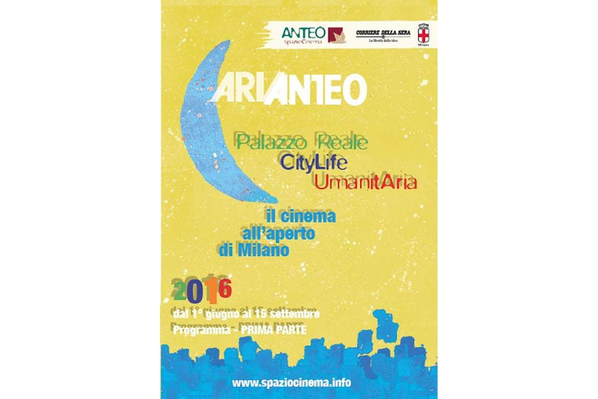 Stasera prende il via ARIANTEO il cinema sotto le stelle di Milano
