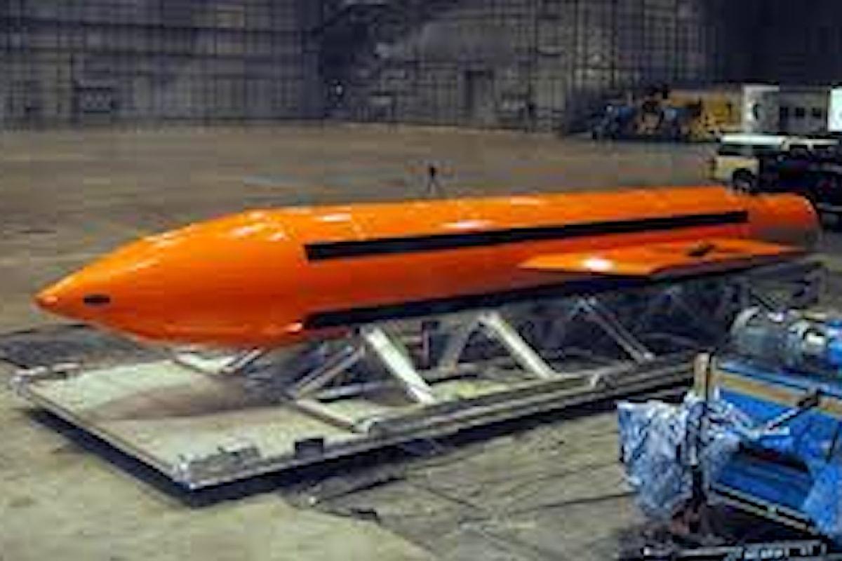 Afghanistan:USA sganciano contro ISIS la madre di tutte le bombe
