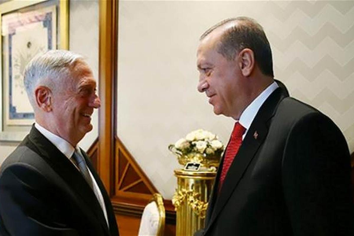 Erdogan arruola anche gli Usa contro la creazione di uno stato curdo nel nord di Iraq e Siria