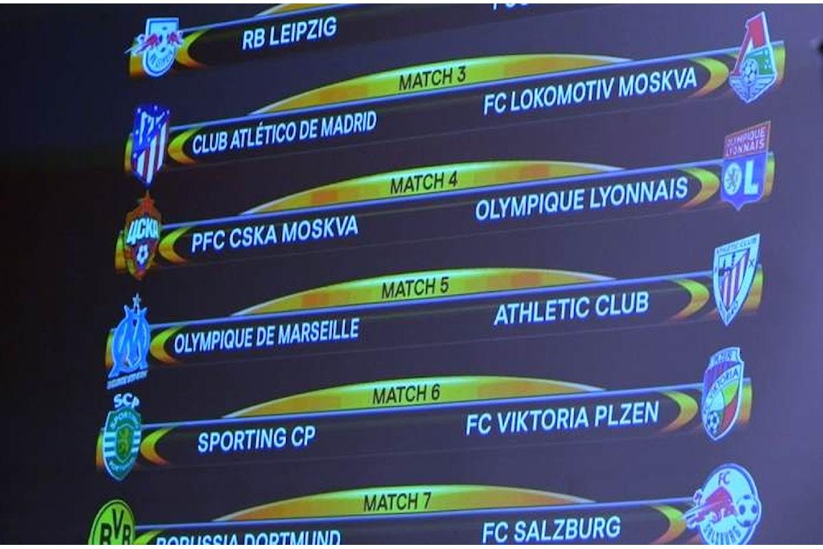 Sorteggio amaro per il Milan, negli ottavi c'è l'Arsenal. Lazio, per te c'è la Dinamo Kiev