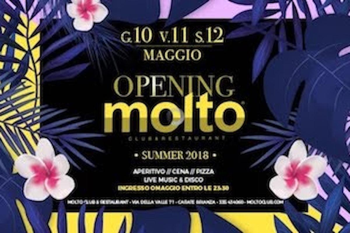 Molto Club & Restaurant - Carate (MB) Opening Party: si balla l'11/5 UrbaIce e il 12/5 Flirt