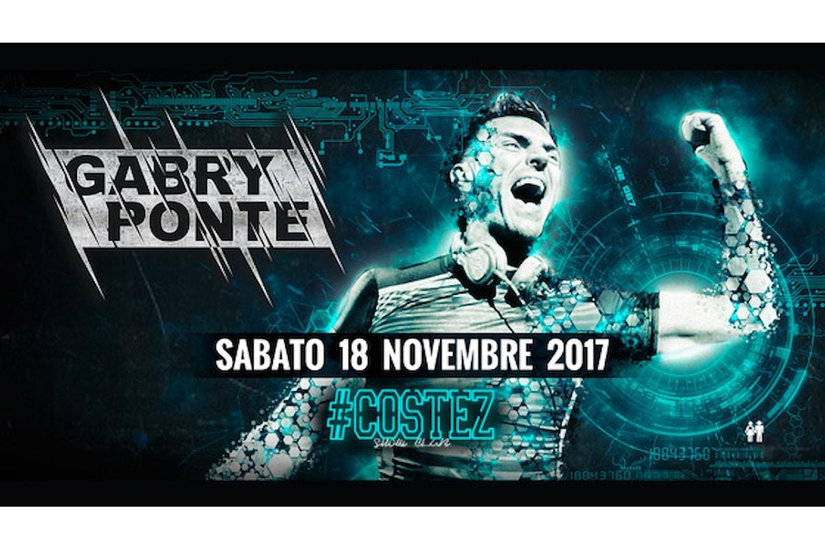 18 novembre, Gabry Ponte al Nikita #Costez Show Club di Telgate (BG)… e gli altri party Costez