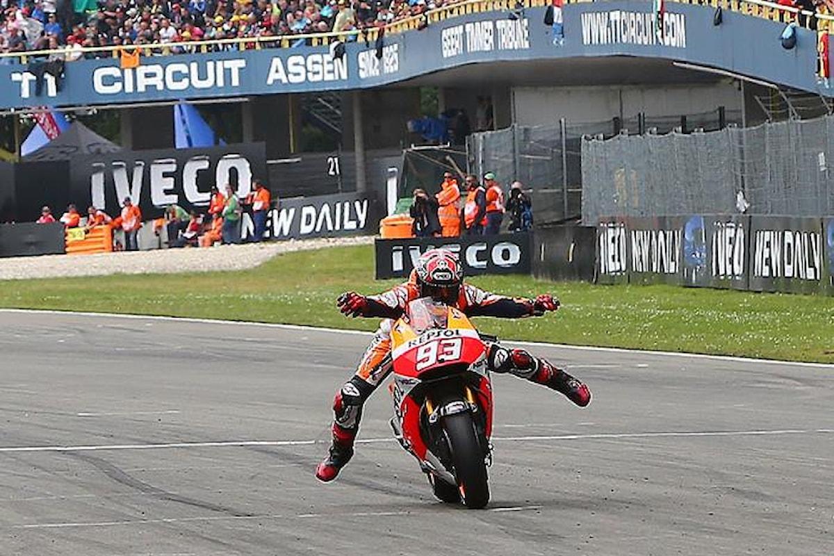 MotoGp, Marquez conquista la pole ad Assen. È la prima volta in carriera