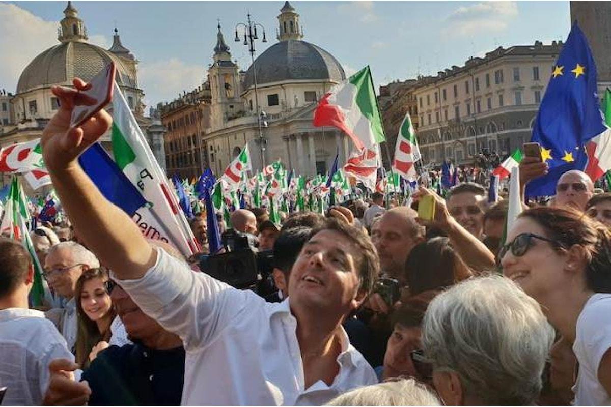 L'inutile manifestazione del Pd che va in piazza senza ancora aver fatto pulizia nel partito