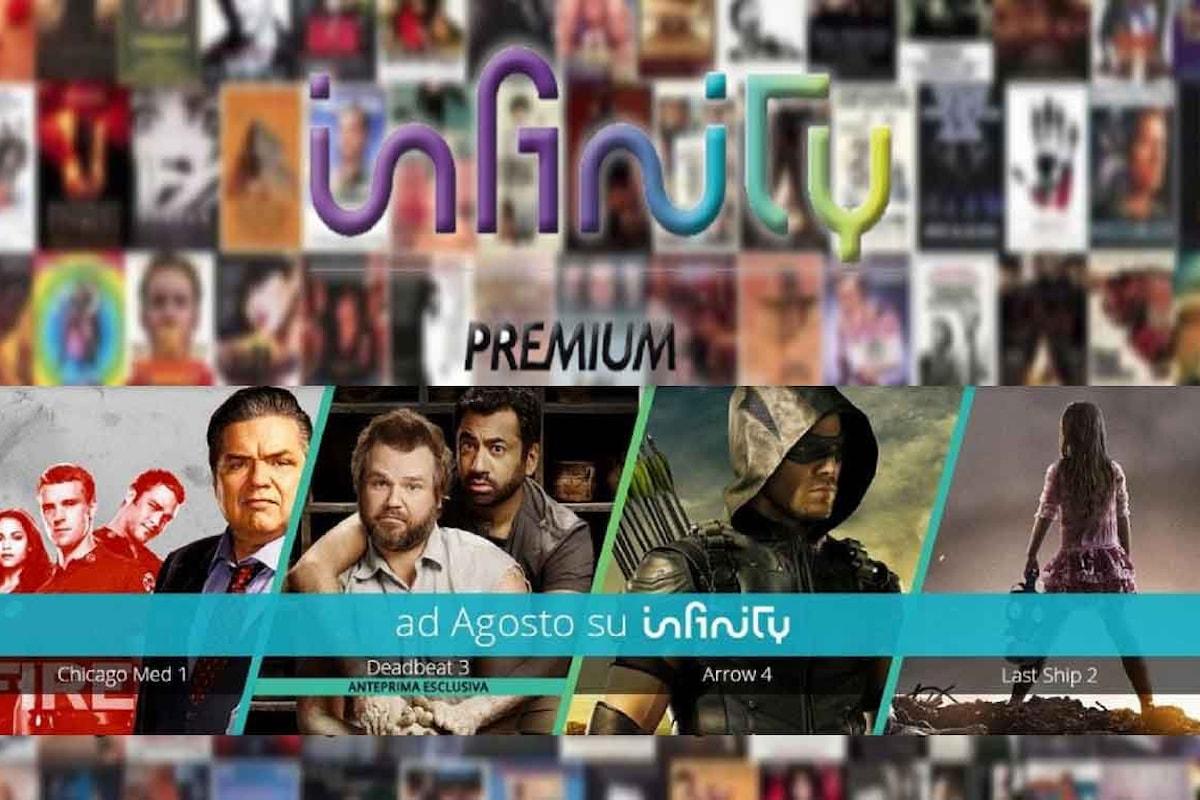 Nuove programmazioni, tra serie tv e film, su Infinity tv per Agosto