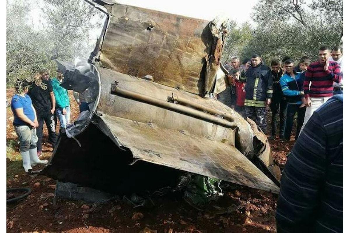 Israele abbatte un drone iraniano e la Siria abbatte un F-16 israeliano