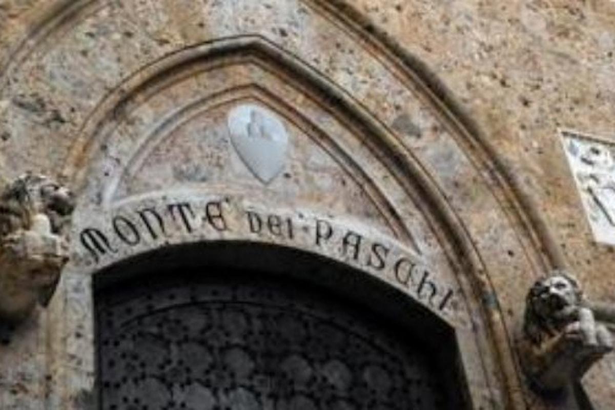 Crisi delle banche: Consob vieta per tre mesi lo short selling del titolo del Monte dei Paschi