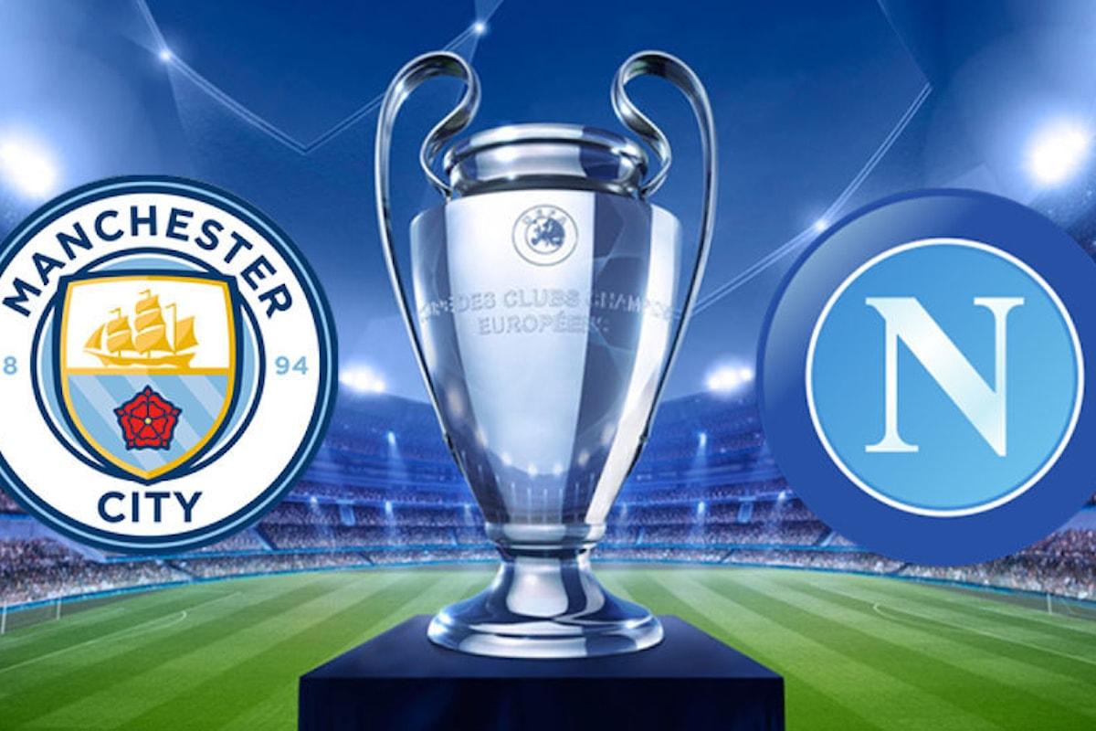 Probabili formazioni di Manchester City e Napoli per la sfida di Champions League