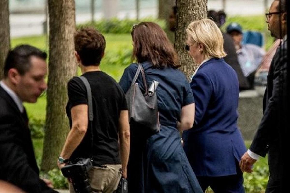 Un malore costringe Hillary Clinton a lasciare in anticipo le celebrazioni dell'11 settembre