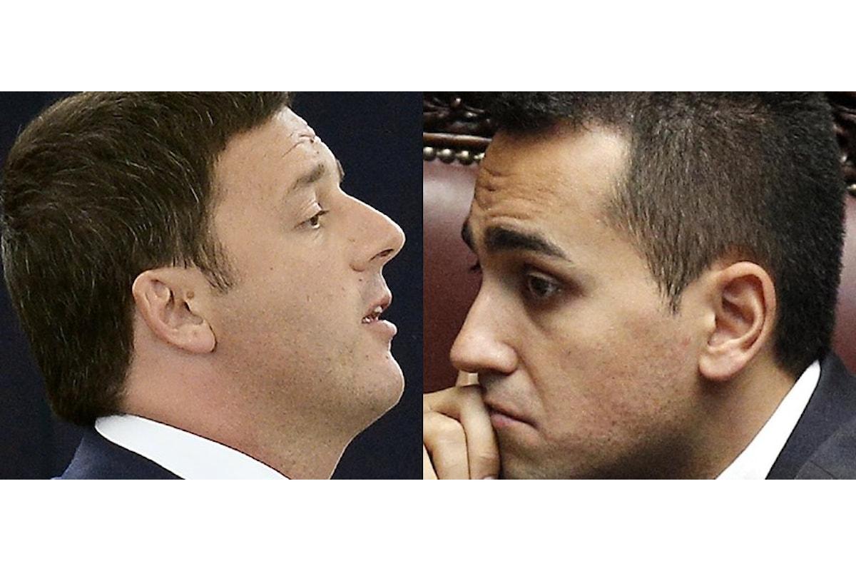 7 novembre, Luigi Di Maio e Matteo Renzi in duello su La7 a DiMartedì ospiti di Giovanni Floris