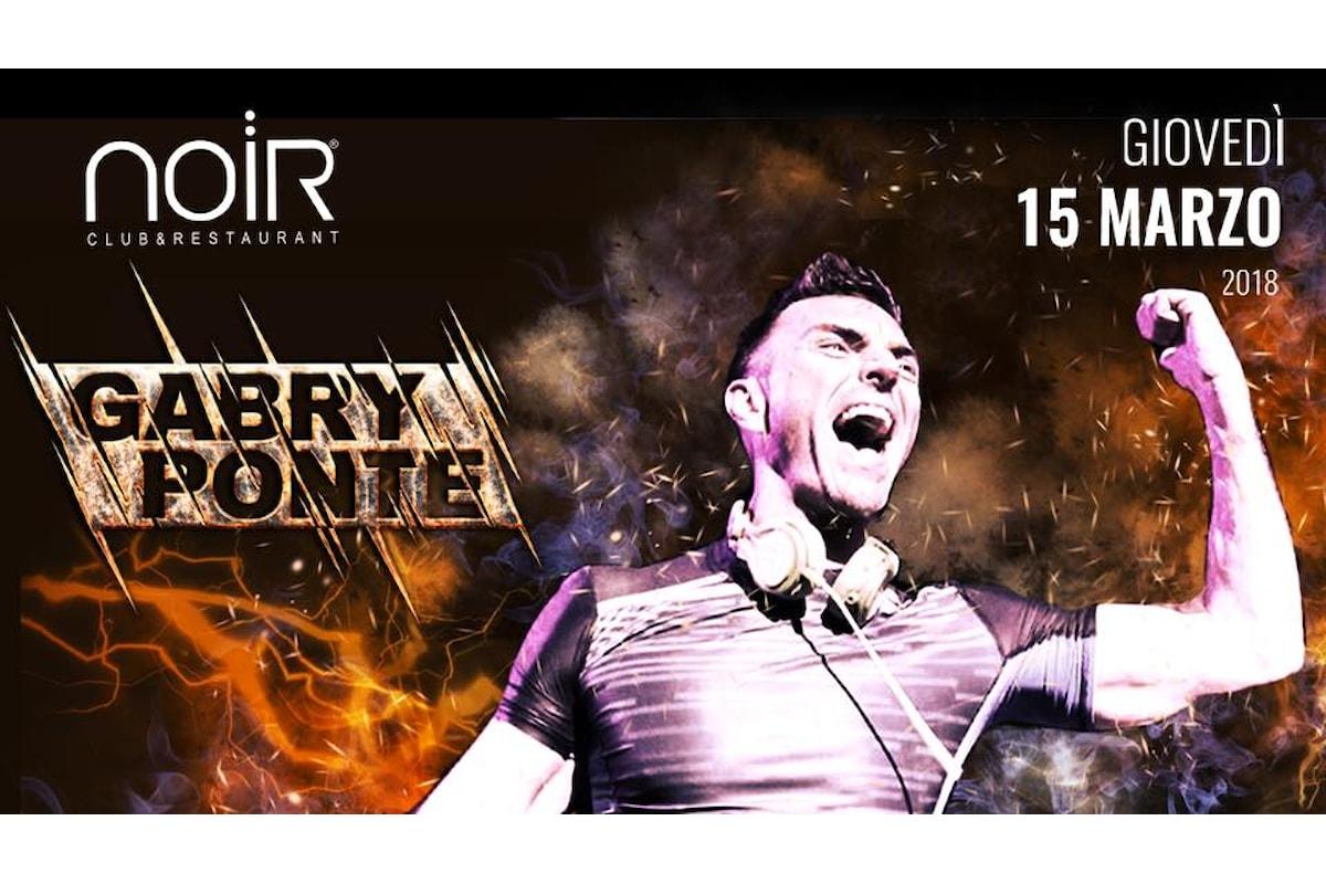 Gabry Ponte fa ballare la Brianza: il 15 marzo al Noir Club & Restaurant di Lissone (MB)