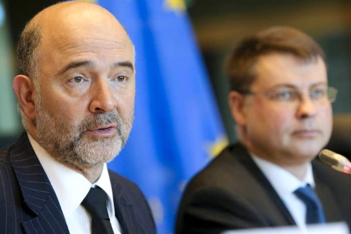 Dombrovskis e Moscovici contestano di nuovo la manovra di Padoan ma rinviano le correzioni alla Primavera 2018