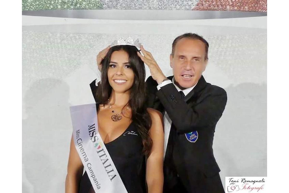 Sanza (SA): Miss Italia 2018, Ciele Veneroso incoronata Miss Cinema Campania
