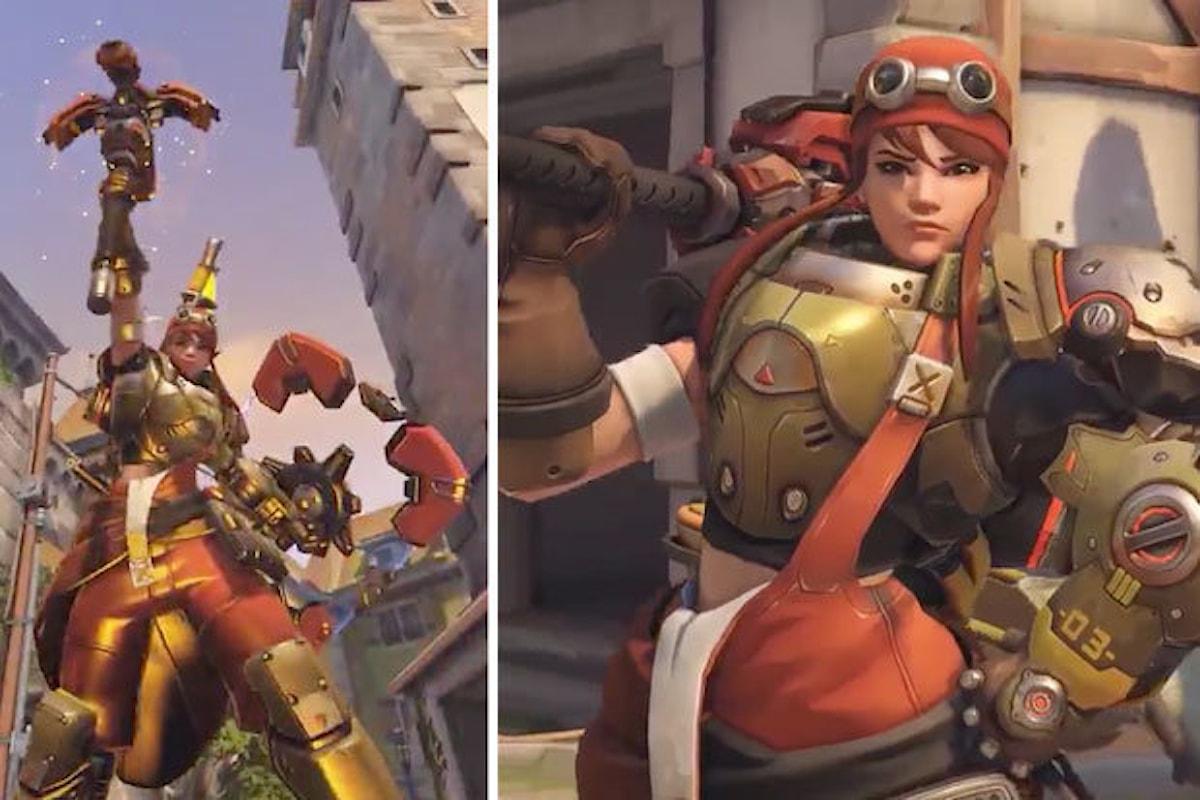 Overwatch: ecco la skin leggendaria della nuova eroina di supporto Brigitte