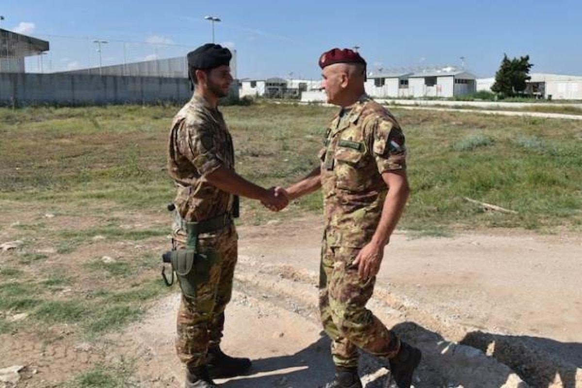 Bari, il Generale Castellano in visita alla Brigata Pinerolo e al C.A.R.A. di Bari
