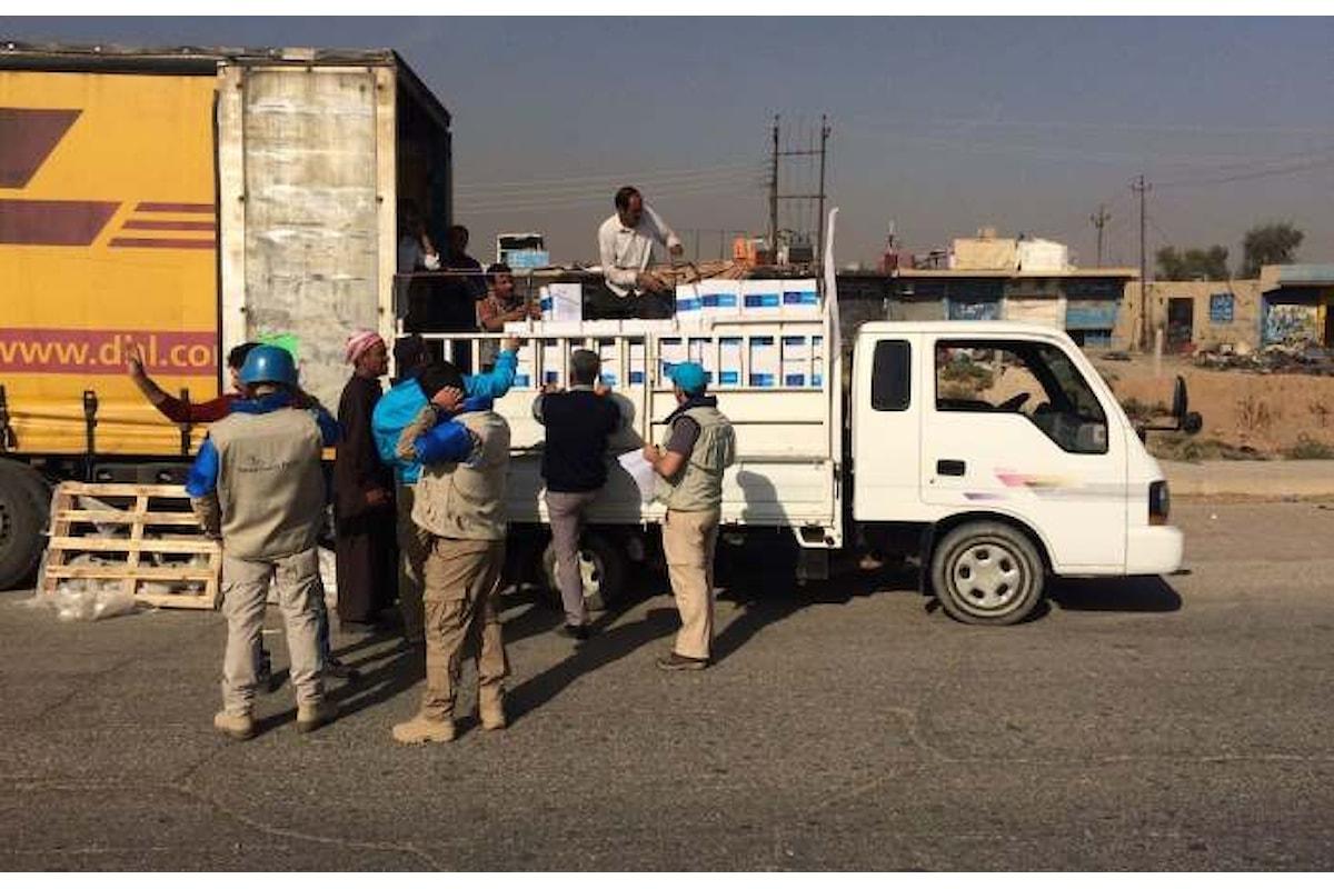 Un convoglio guidato dall'UNICEF è riuscito a raggiungere Mosul portando aiuti a 30.000 persone