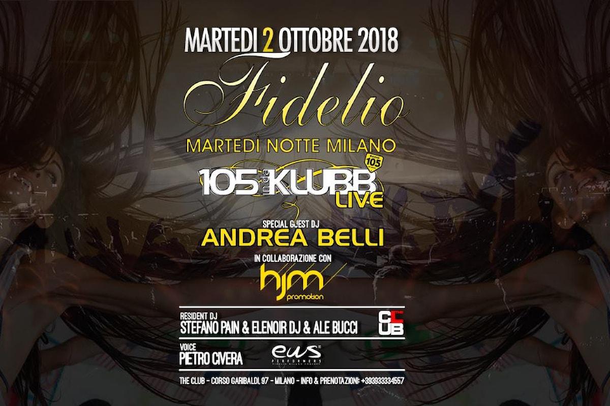 105 Indaklubb e HJM Promotion fanno ballare Fidelio Milano