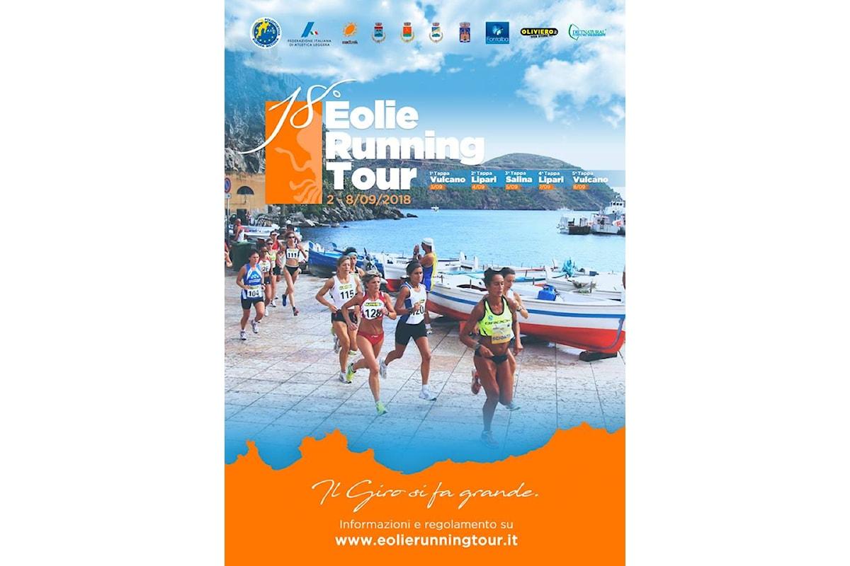 Eolie Running Tour 2018, la 18.esima edizione del Giro Podistico delle Isole Eolie al via da Vulcano