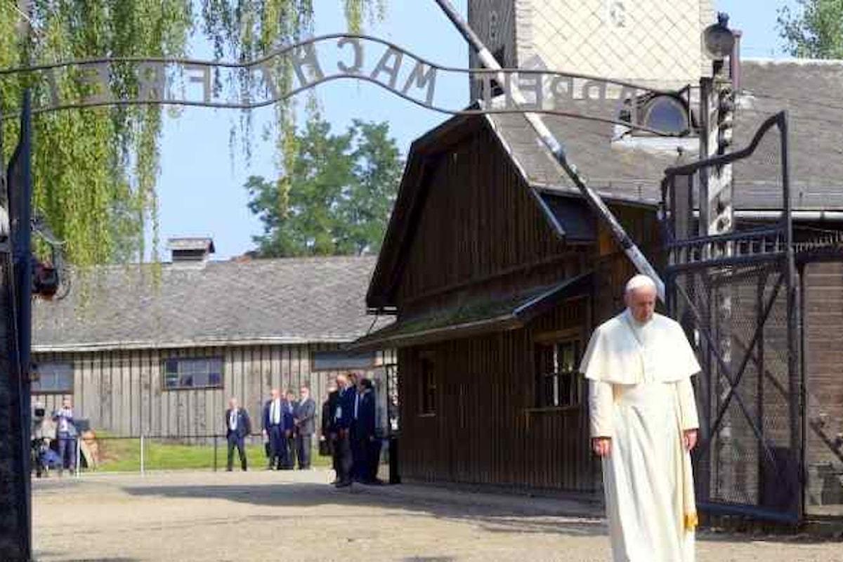 Papa Francesco ad Auschwitz e Birkenau