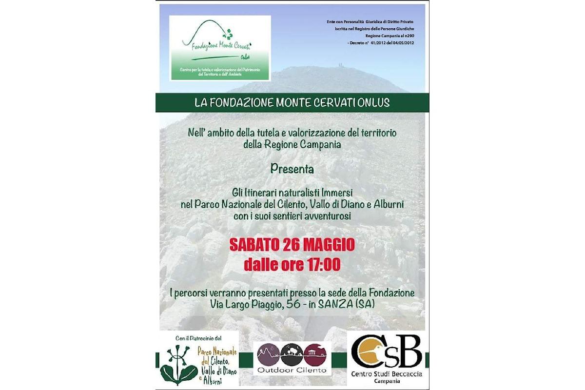 Sanza (SA): sentieri e natura, la Fondazione Cervati valorizza il territorio