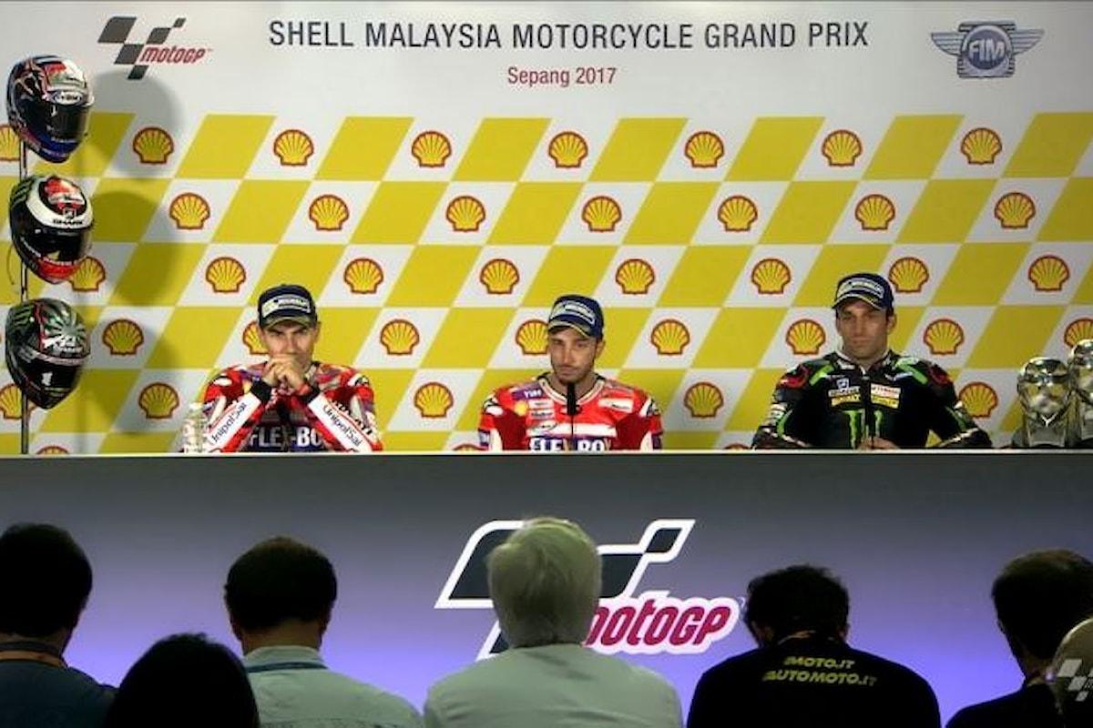 Dovizioso primo a Sepang. Per il mondiale 2017 di MotoGP si decide tutto a Valencia