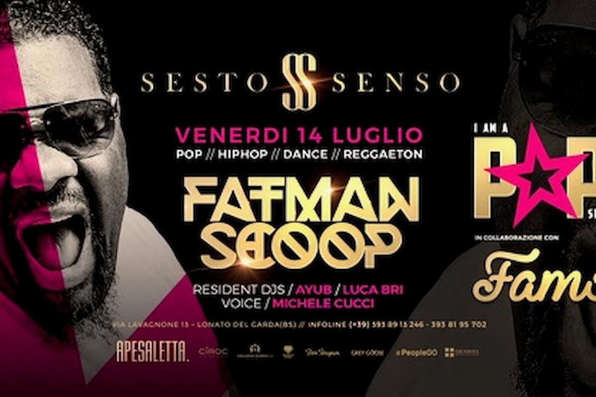 Fatman Scoop fa scatenare Ibiza… ed il 14 luglio pure il Sesto Senso di Desenzano (BS)