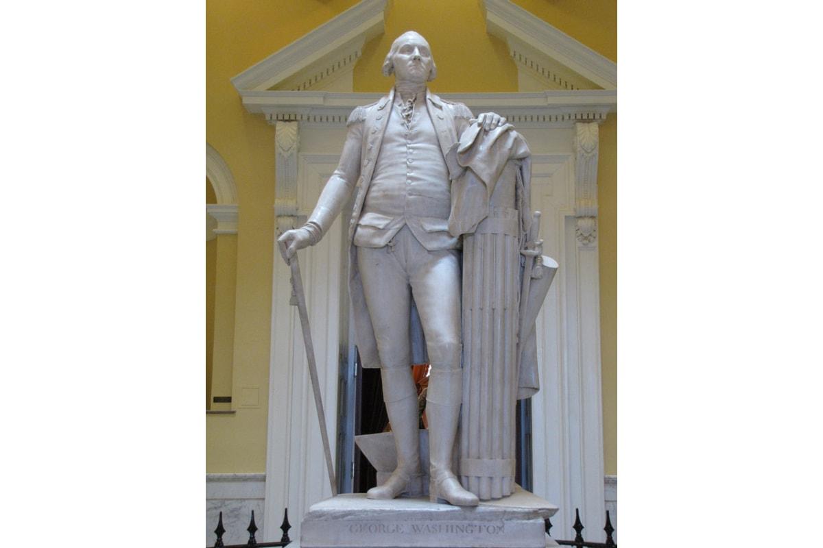 Il George Washington nato dallo stile neoclassico di Houdon