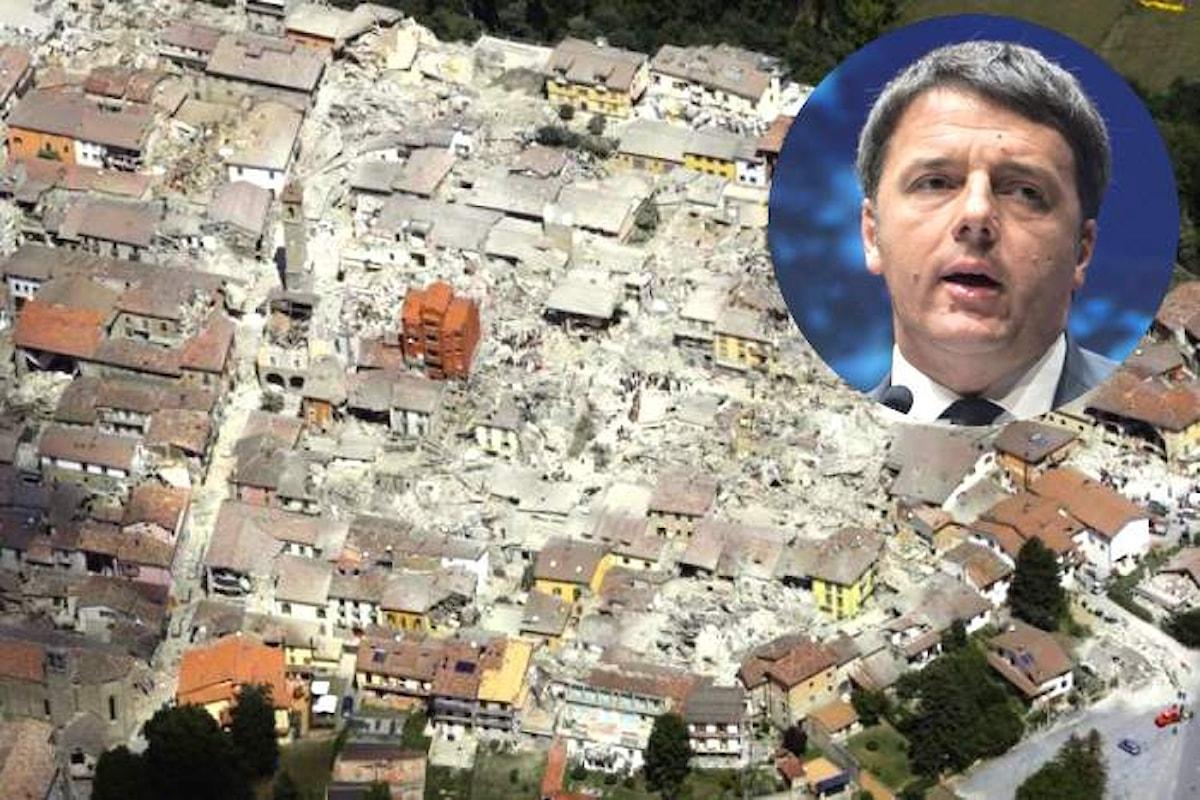 La nuova Enews di Renzi ovvero il nuovo esercizio di retorica con il terremoto come tema