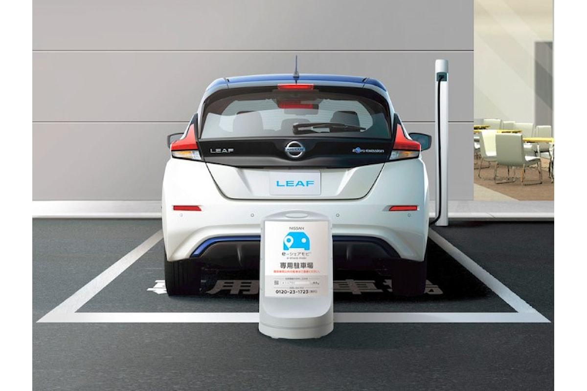 Nissan inaugura in Giappone il servizio di mobilità condivisa (car-sharing) e-share mobi