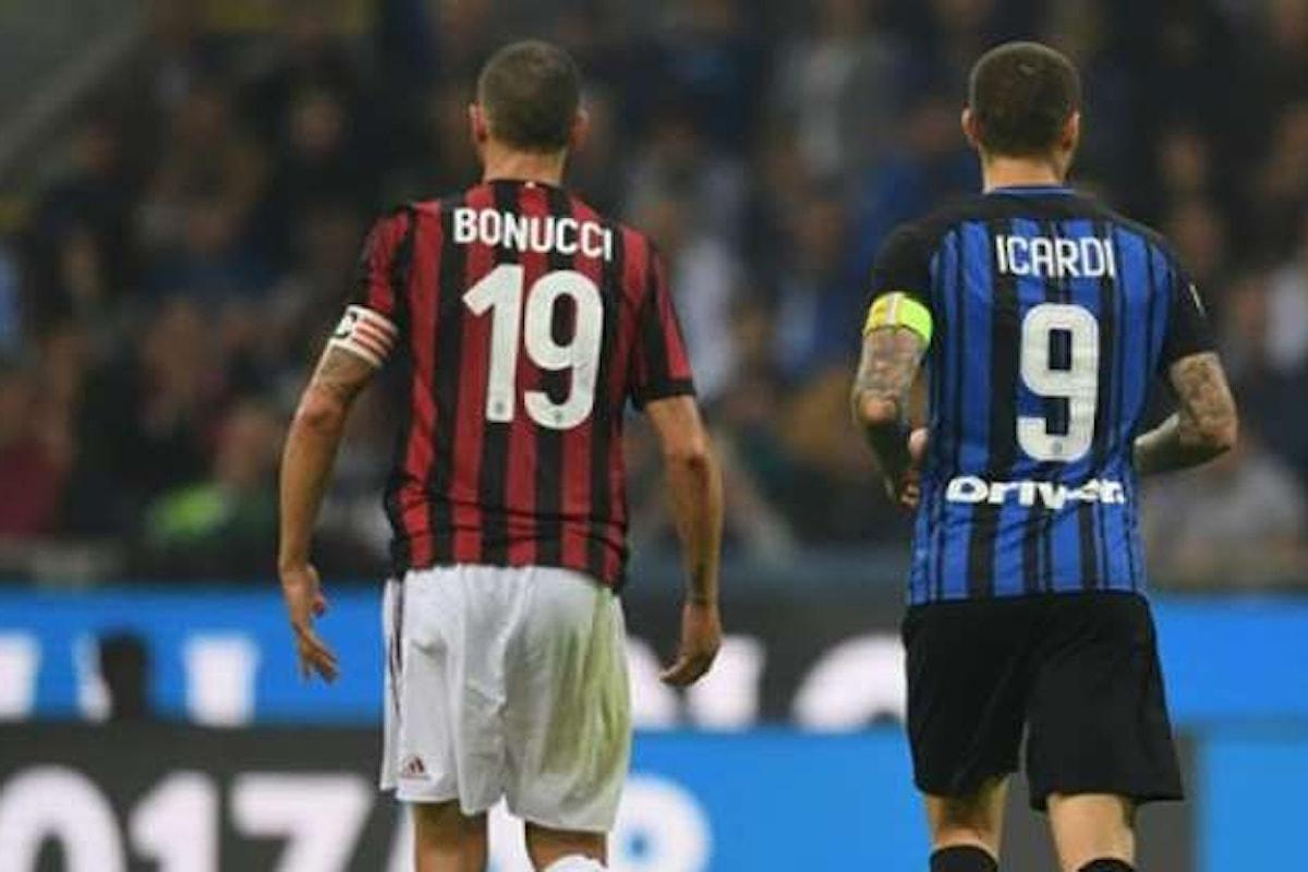 Domenica sera si disputa Milan - Inter: il Derby della Madonnina numero 291, il 190° in campionato