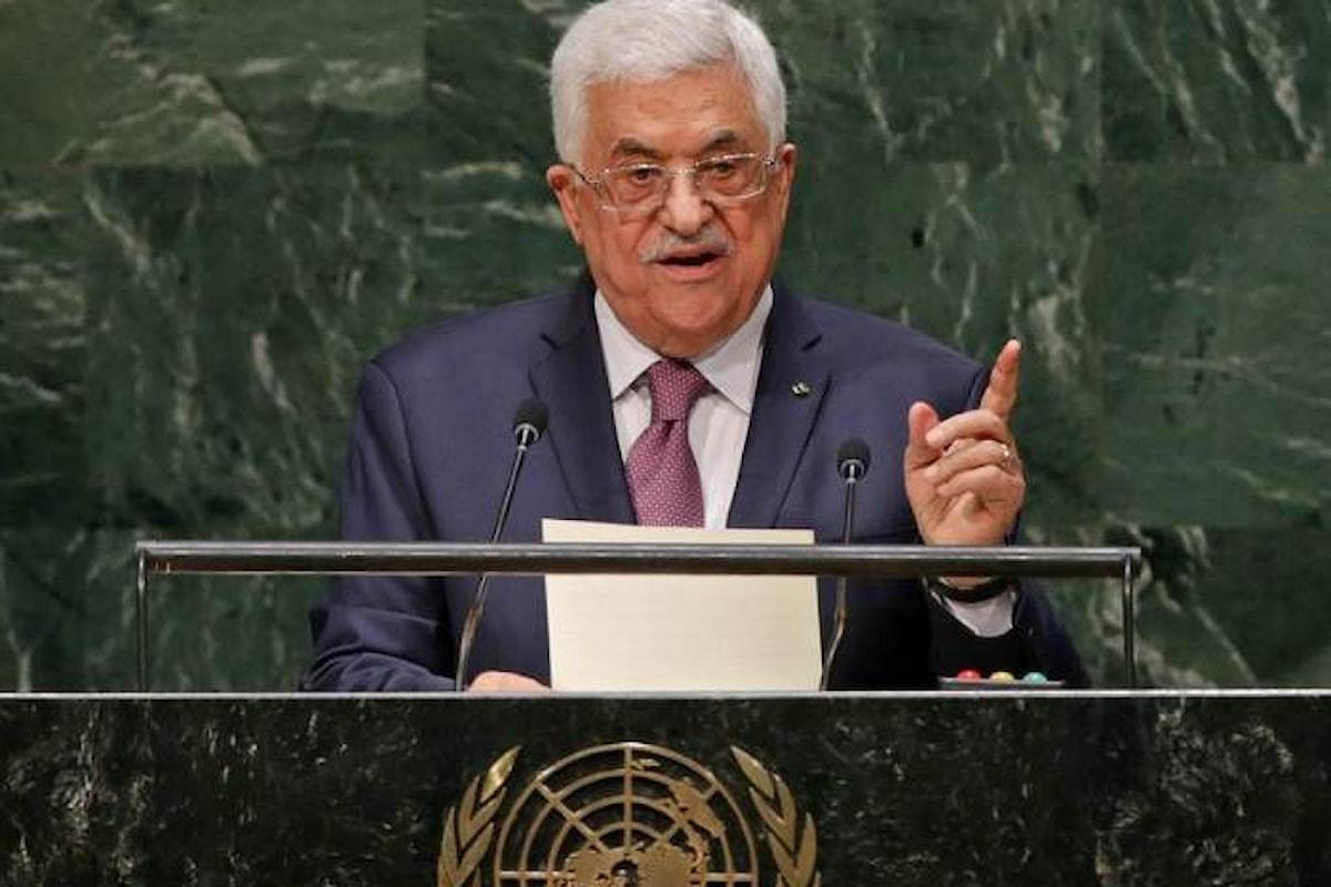 Ecco ciò che dirà Abu Mazen alla 73.esima sessione dell'Assemblea Generale delle Nazioni Unite