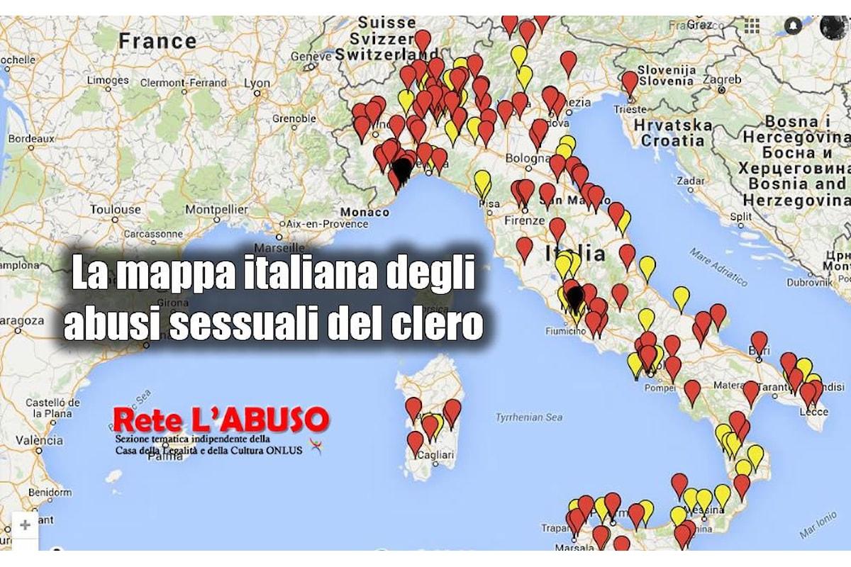 Pedofilia, su Internet la mappa che segnala i reati dei preti