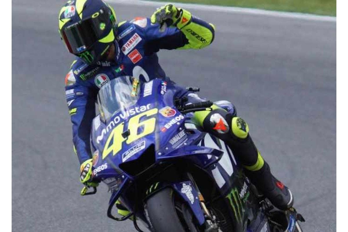 MotoGP 2018, al Mugello sarà Rossi a partire dalla pole