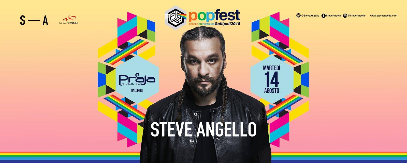 Il 14 agosto, Steve Angello al PopFest di Gallipoli