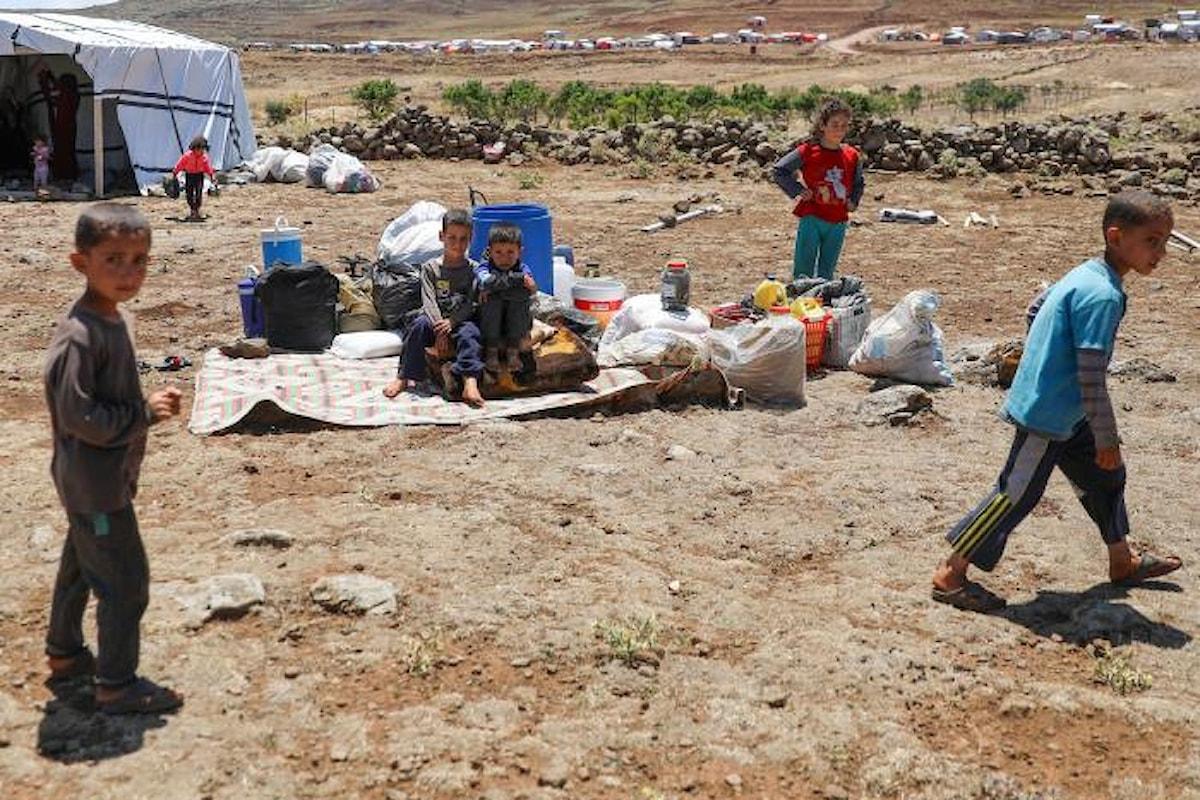 In Siria è sempre guerra: in 3 giorni 20.000 bambini e le loro famiglie sfollati, 4 bambini uccisi e molti altri feriti