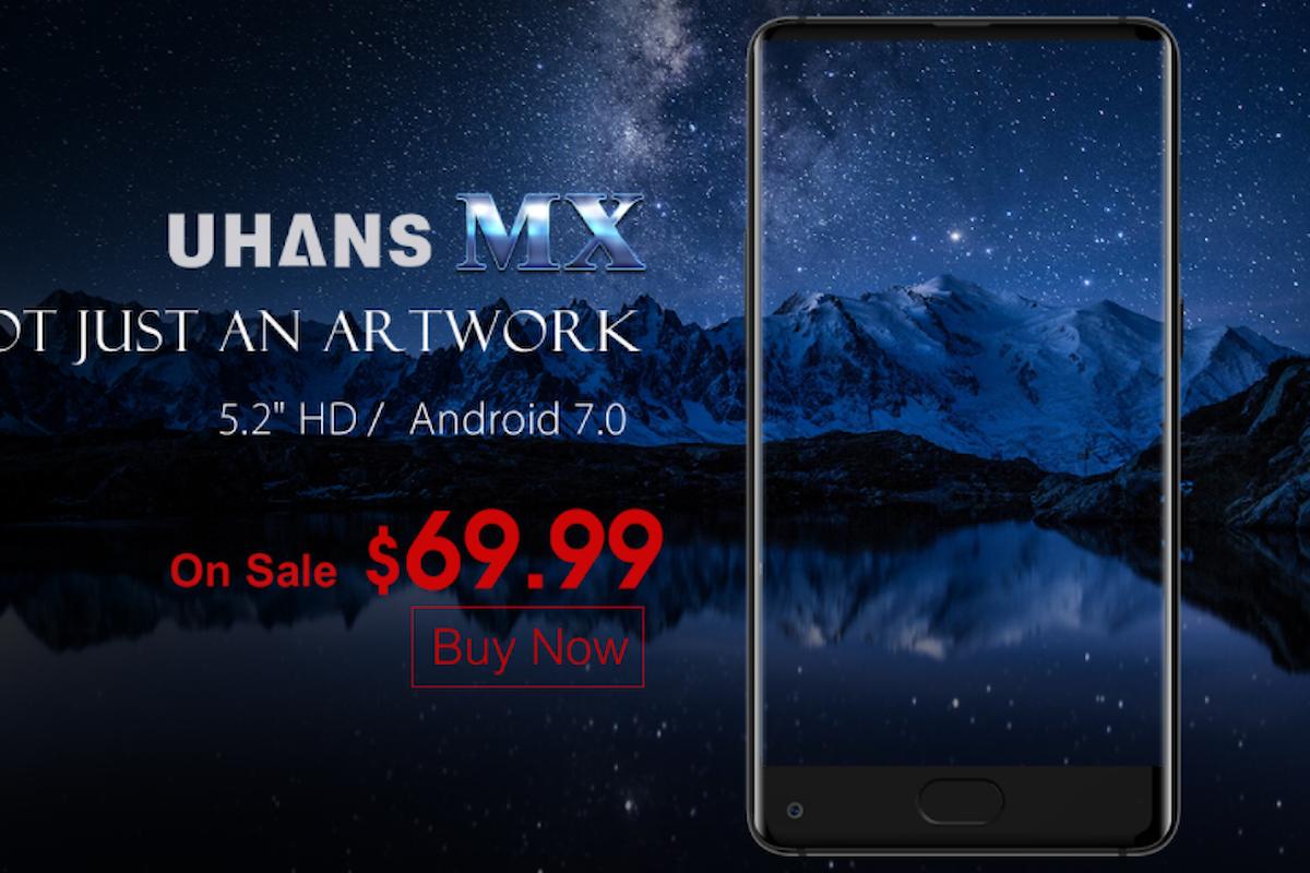 UHANS MX è lo smartphone borderless più economico sul mercato. Costa solo 60 euro!