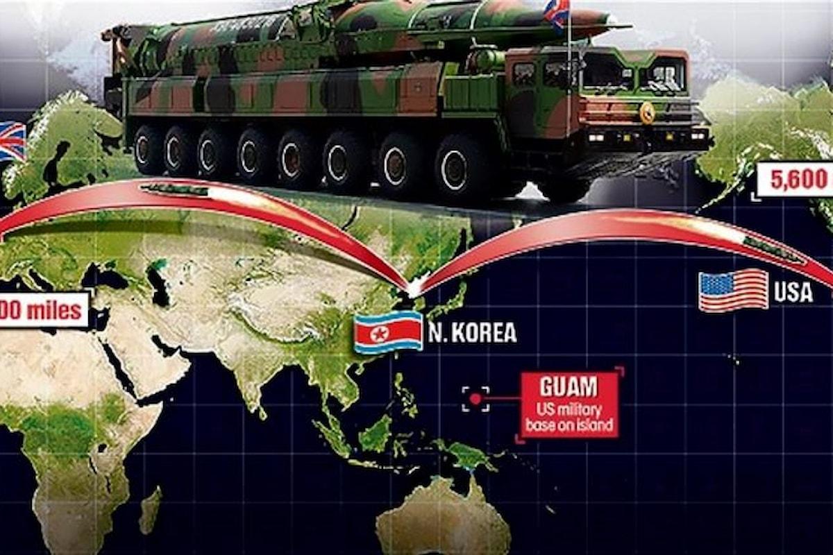 La Corea del Nord lancia un missile verso il Giappone e afferma che era un missile balistico intercontinentale (ICBM)