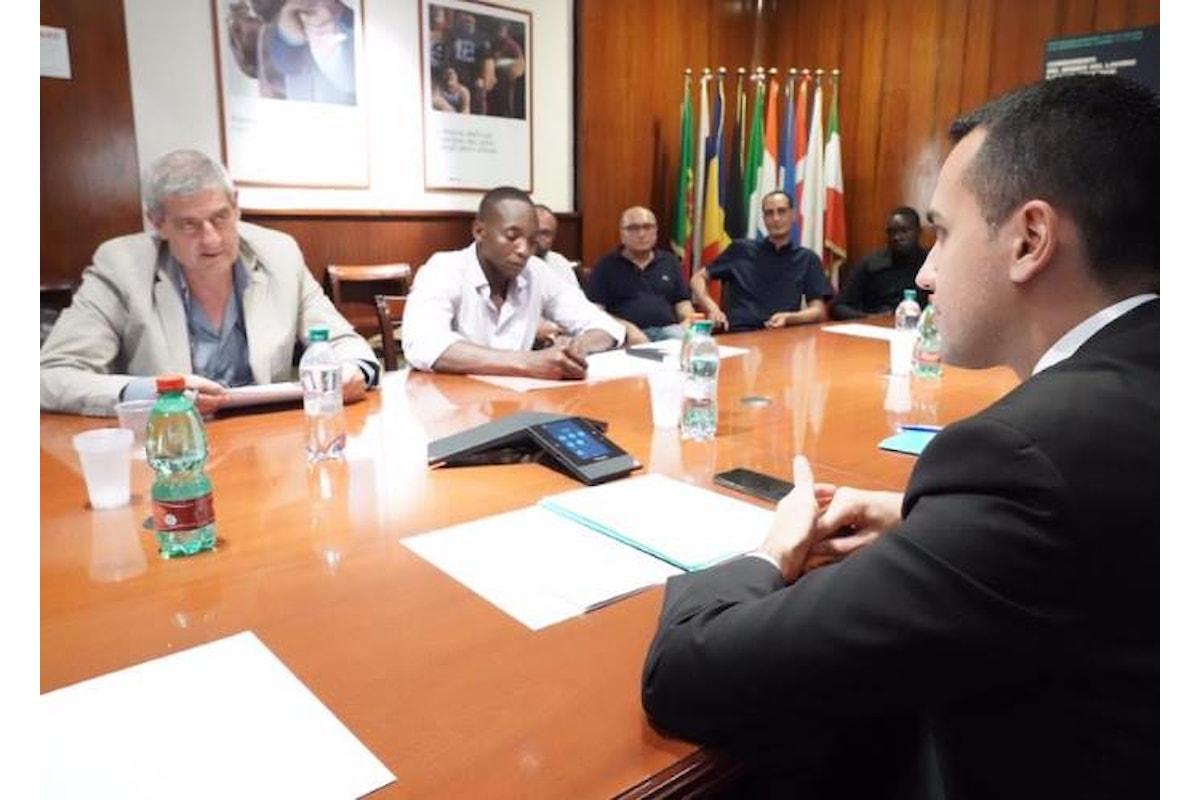Di Maio ha incontrato una delegazione USB sul problema dello sfruttamento del lavoro dei braccianti
