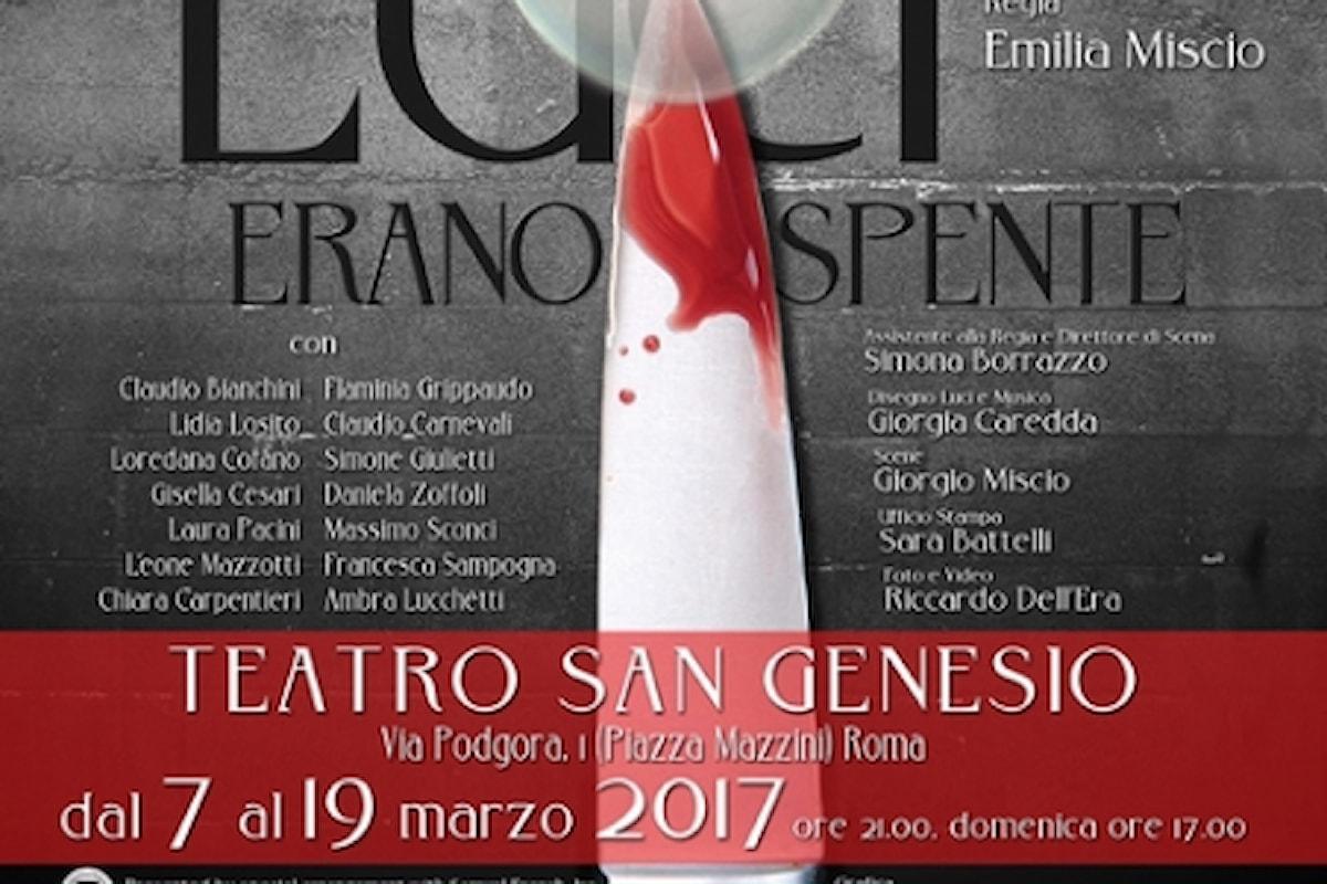 L'inedita murder mistery 'Mentre le Luci erano spente' di Jack Sharkey al Teatro San Genesio di Roma