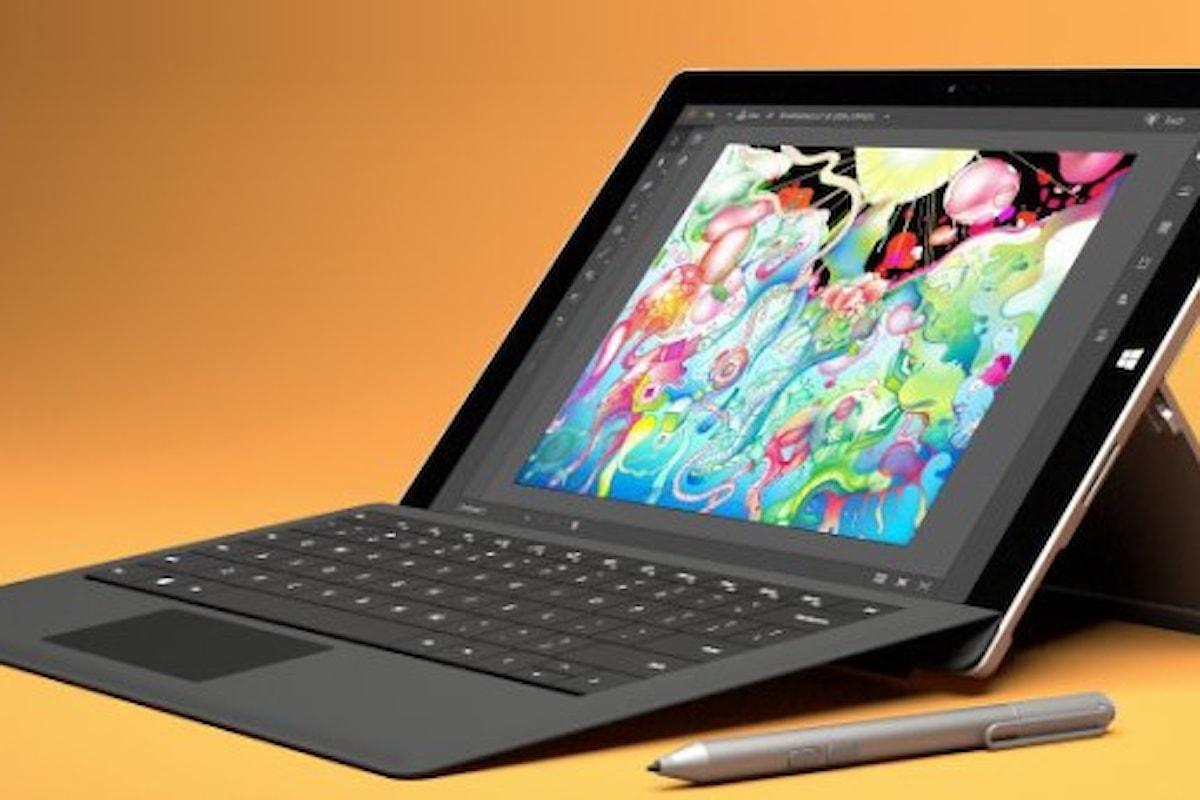 L'uscita di Surface Pro 5 slitterà probabilmente nel 2017