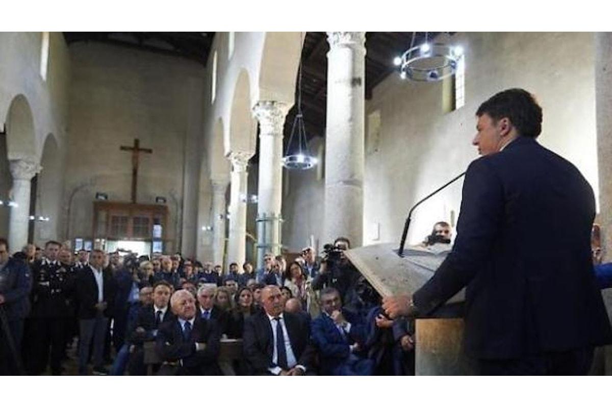 Paestum: Renzi fa un comizio in Basilica, protesta dei fedeli: E' dissacratorio