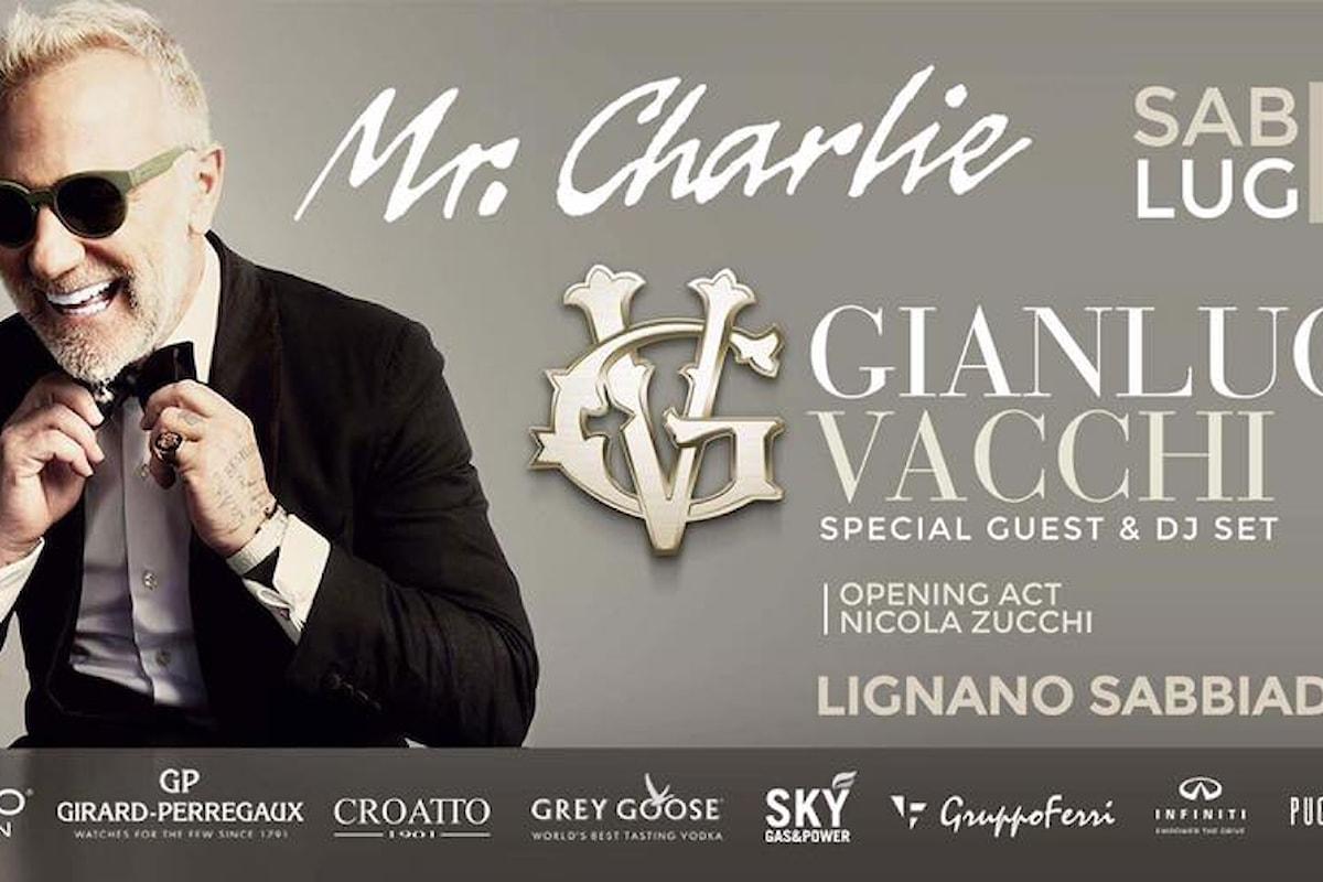 8 luglio, Gianluca Vacchi dj set al Mr.Charlie di Lignano Sabbiadoro (UD)