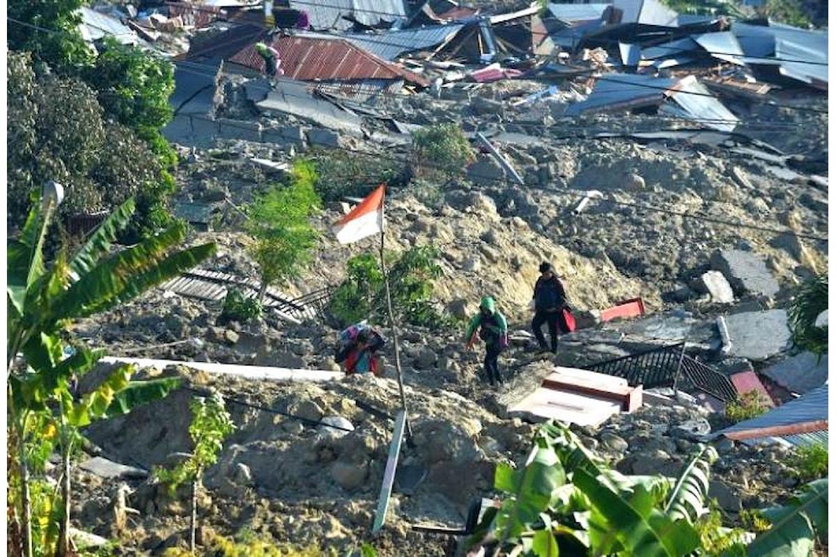 Indonesia, finora oltre 1.300 le vittime nell'isola di Sulawesi