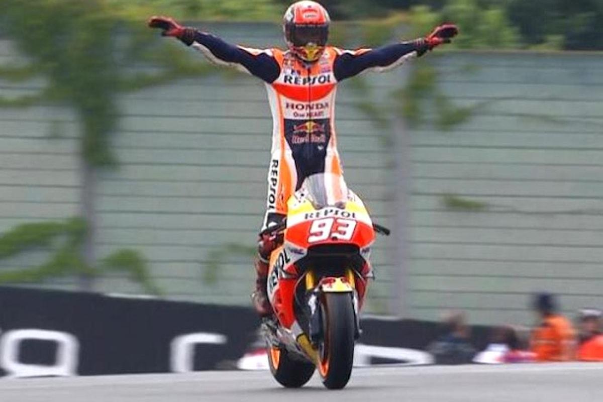 MotoGP 2017, Marquez gioca d'anticipo e vince il Gran Premio della Repubblica Ceca